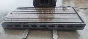 115 X 56 875 X 11 Steel Welding 7 T slotted Table Layout Plate Jig_7 Slot
