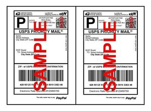 Economy Thin Self Adhesive Paypal Shipping Labels 8 5 X 5 5 80 Gsm