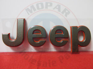 Jeep Patriot Bronze Red 75th Anniversary Jeep Hood Nameplate New Oem Mopar