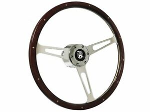 1961 1974 5 Vw S6 Classic Espresso Wood Steering Wheel Kit Castle Emblem