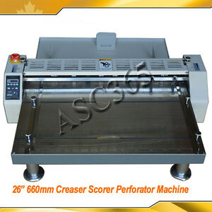 110v 26 660mm Creaser scorer perforator Paper Creasing Machine Plywood Package