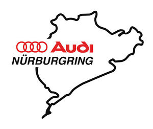 2x Audi Nurburgring Decals Sticker Vinyl Logo 6 Car Hood Sport Racing Rs Tts Tt