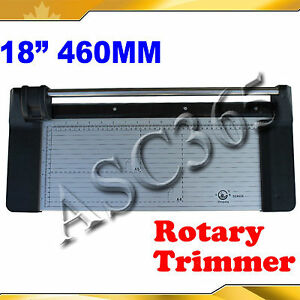 18 Manual Rotary Paper Cutter Portable Trimmer With One Extra Blade