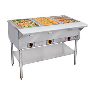 Apw Wyott St 3 120 Champion 3 Well Electric Steam Table 120v