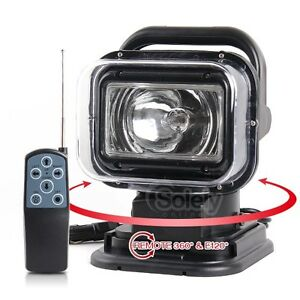 Remote Rotating 55w Hid Xenon Search Work Spot Light Fishing Boat Hunting 4x4