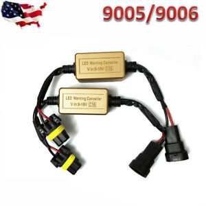 2x 9005 9006 Led Drl Hid Headlight Kit Canbus Anti Flicker Load Resistor Decoder