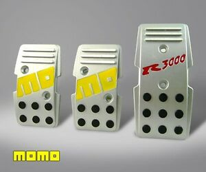 Brand New Momo R3000 Silver Racing Gas Pedal 3 Pc For Manual Transmission Cars