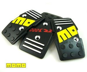 Brand New Momo R3000 Black Racing Gas Pedal 3 Pc For Manual Transmission Cars