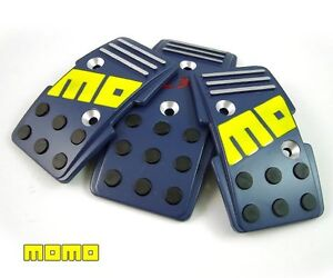 Brand New Momo R3000 Blue Racing Gas Pedal 3 Pc For Manual Transmission Cars