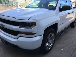 2007 2018 Chevy Silverado Double Ext Cab Dropped Steps Nerf Bars Running Board