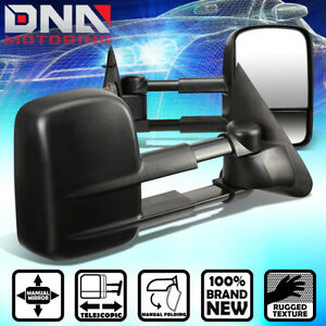 For 1997 2004 Ford F150 F250 Light Duty Pair Manual Side View Tow Towing Mirror