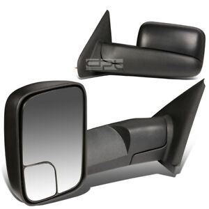 Fit 02 09 Dodge Ram 1500 3500 Adjust Foldable Rear View Towing Tow Mirror Pair