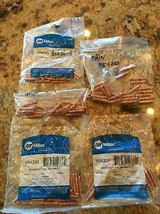 125 New Genuine Miller 054201 Contact Tips 045 Wire X 1