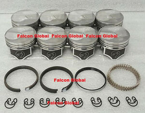 Chevy 454 Speed Pro Hypereutectic Coated 22cc Dome Pistons Moly Rings Kit Std