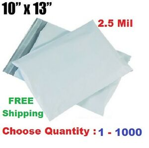 10x13 Poly Mailers Shipping Envelopes Self Sealing Plastic Mailing Bags 1 1000