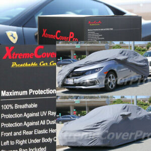 2016 2017 2018 Honda Civic Coupe Breathable Car Cover W mirror Pocket grey