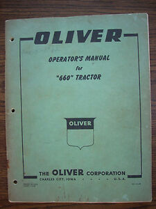 Oliver 660 Owners Manual