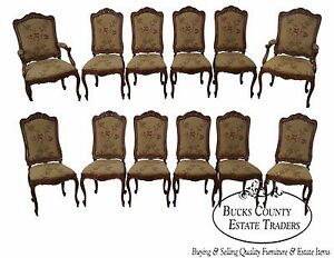 Bau Furniture French Louis Xv Style Set Of 12 Versailles Dining Chairs