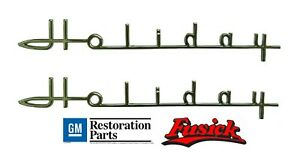1954 1955 Oldsmobile 98 Holiday Fender Emblem Script Set