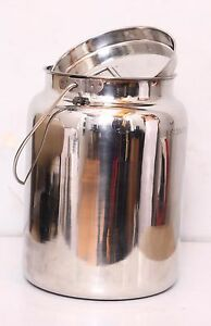Stainless Steel Milk Can Tote 5 Qt aisi 304 Or 18 8 Pure Food Grade