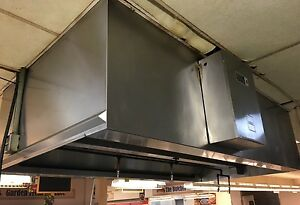 Induction Aire Exhaust Hood 9 x5 Ansul R 102 Fire Suppression System