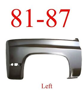 81 87 Chevy Left Front Fender Truck Suburban Blazer Assembly 0851 005