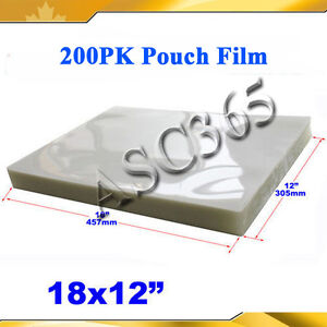 Pouch Laminating Film 12x18 200pk Clear Style 5mil For Thermal Hot Laminator