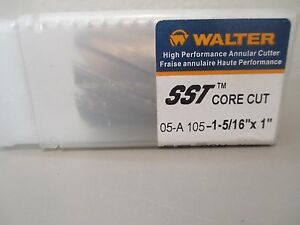 Walter Sst Core Cut 1 5 16 By 1 Annular Cutter
