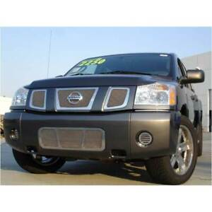 T rex Polished Upper Class Series 3pc Mesh Grille For Nissan Armada titan 04 07