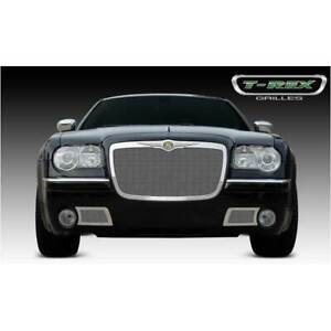 T rex Polished Upper Class Series Mesh Grille For Chrysler 300 2005 2010