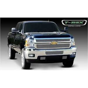 T rex Polished Billet 2pc Grille Overlay Or Insert For Chevrolet Silverado 11 14