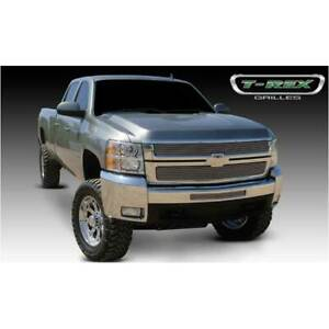 T rex Polished Billet 2pc Grille Overlay For Chevrolet Silverado 2500 3500 07 10