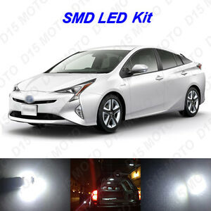10x Ultra White Led Interior Lights Bulbs Package Kit For 2010 2018 Toyota Prius