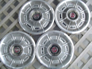1971 1972 1973 Mercury Cougar Xr7 Hubcaps Wheel Covers Center Caps Vintage Rims