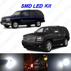 16x White Led Interior Bulbs Kit Tag Lights For 2000 2014 Chevy Tahoe Suburban