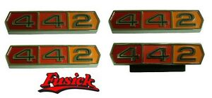 1965 Olds Cutlass 442 Quarter Trunk Emblem Set Oldsmobile 65 442