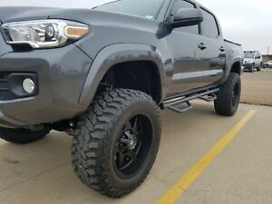For 05 18 Toyota Tacoma Double Cab Hoop Style Nerf Bars Drop Steps Running Board