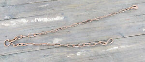 Vintage Antique Logging Lift Sling Tow Chain 4 1 2 Ft 1 4 Links Lqqk