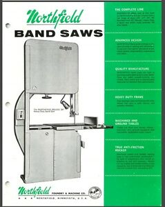 Northfield 32 Band Saw Operation Maintenance Instructions Parts Pdf