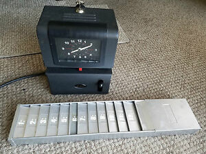 Lathem Time Clock 2121 And Time Card Holder