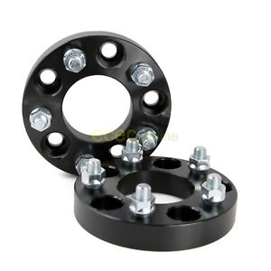 2pc 1 25 5x4 75 To 5x4 5 Black Wheel Adapters Spacers 12x1 5 Studs Nuts