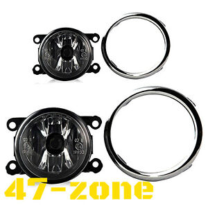 For 2013 2015 Honda Pilot Clear Lens Chrome Housing Fog Light Lamp Complete Kit