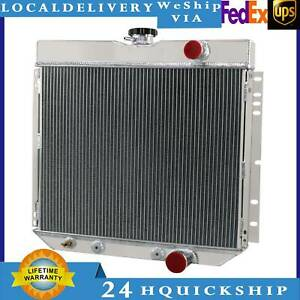 4row Core Aluminum Radiator For Ford Mercury Cougar 67 68 Ford Mustang 67 70