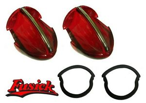 1956 Olds 98 Tail Light Lens W Chrome Molding And Gasket Set Oldsmobile 56