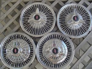 1966 66 Oldsmobile Cutlass F85 Starfire Holiday Spinner Wire Hubcaps Wheel Cover
