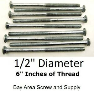 1 2 X 8 Inch Galvanized Carriage Bolts 50 Wwo Hex Nuts Flat Washers