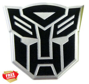 Transformers Black Sticker Logo Metal 3d Autobot Emblem Badge Decal Auto Styling