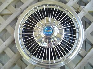 One 1967 67 Ford Galaxie Mustang 15 In Wire Spinner Hubcap Wheel Cover Antique