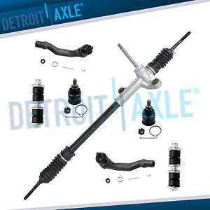 7pc Complete New Manual Steering Rack And Pinion Suspension Kit For Honda Civic