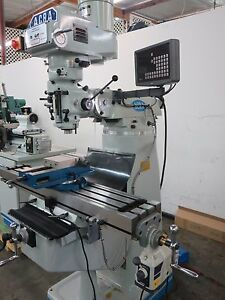 Acra Vertical Milling Machine With Dro Power Feed New Machine